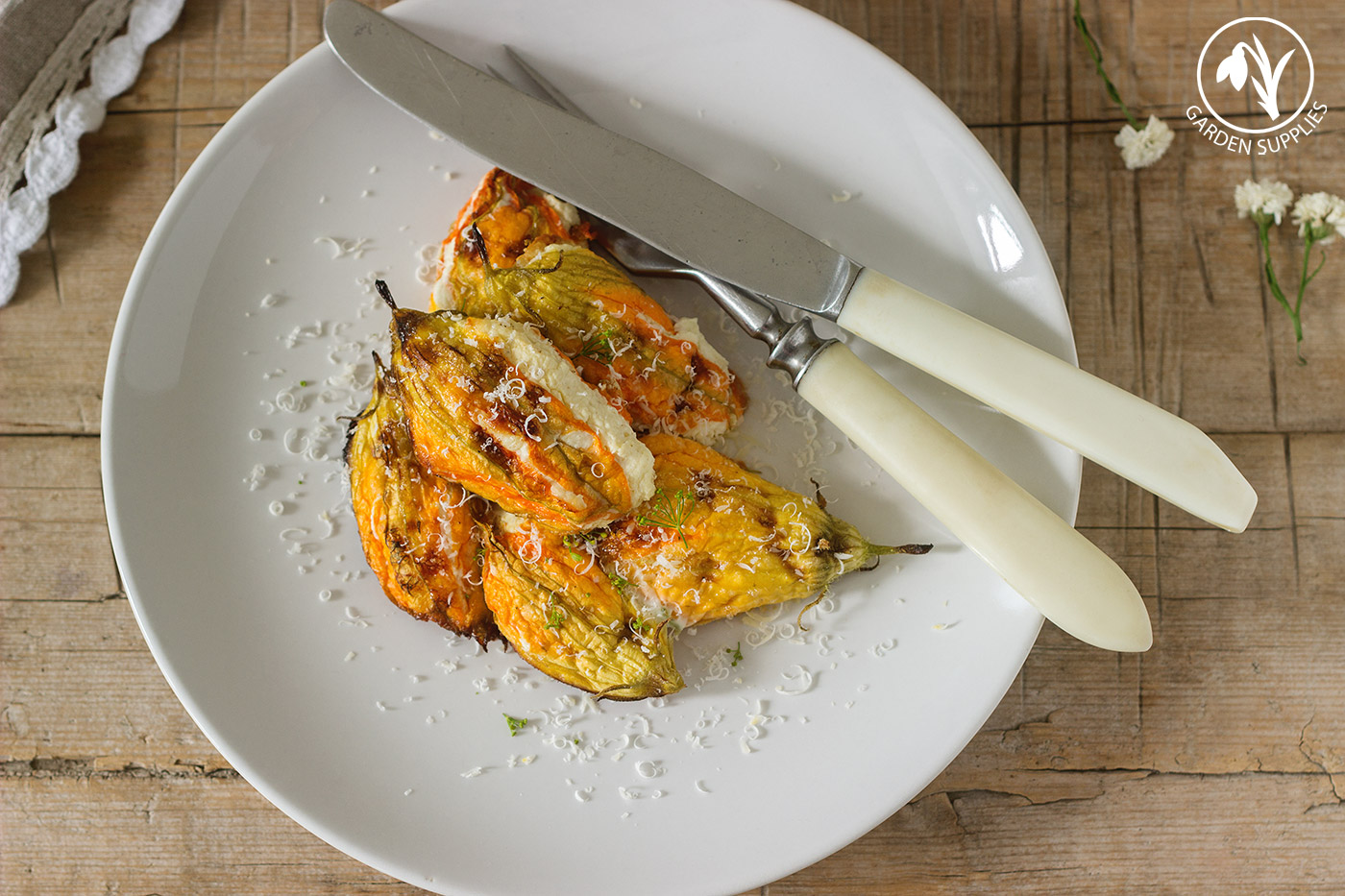 Try Out Our Baked Courgette Flower Recipe